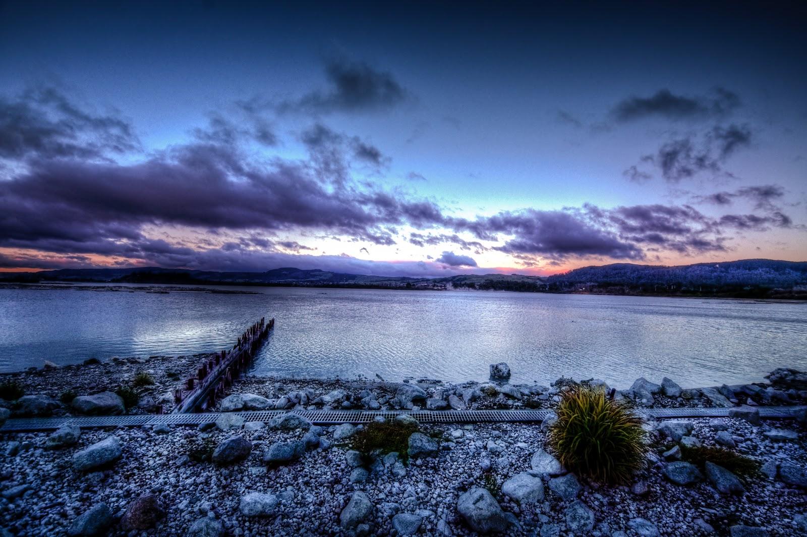 rotorua lake tramonto